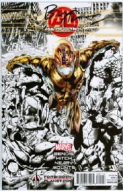 Age Of Ultron #1 Forbidden Planet Variant Signed Bryan Hitch (2013) Marvel comic book